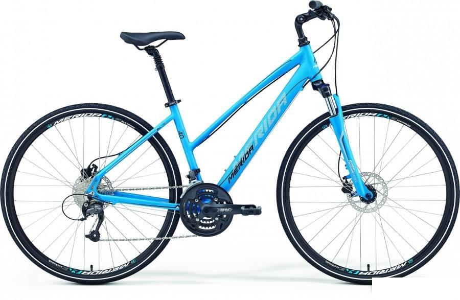 Merida Crossway 40-D Lady matt sinine-valge-must