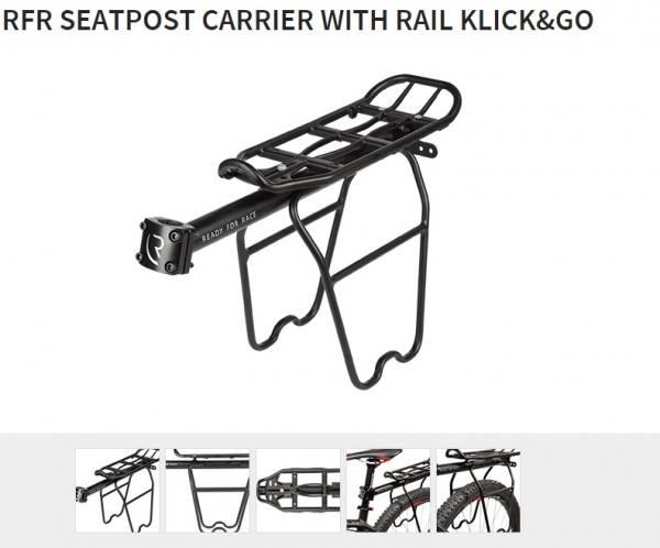 Pakiraam RFR Click&Go sadulapostile küljetugedega