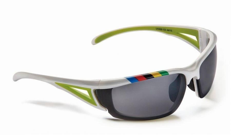 Prillid Merida valge-roheline UCI rainbow