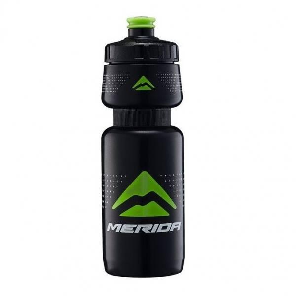 pudel-merida-600ml-must-roheline-logo