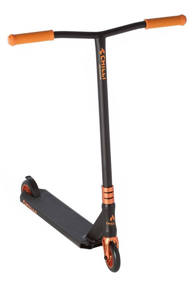 Tõukeratas Chilli Sun Reaper 110mm must-oran
