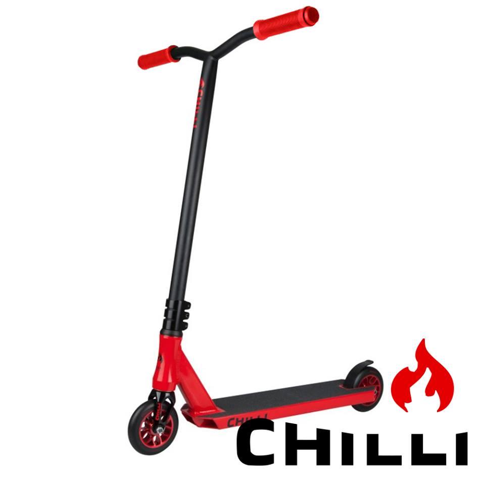 Tõukeratas Chilli Fire Reaper 110mm punane-must
