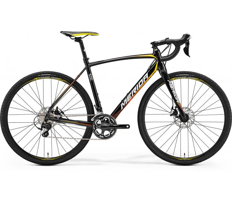 Ratas Merida Cyclo Cross 500 metallik must-kollane-punane