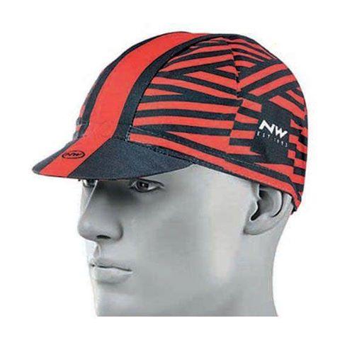 Müts Northwave Switch Line 55-58cm must-punane-triip