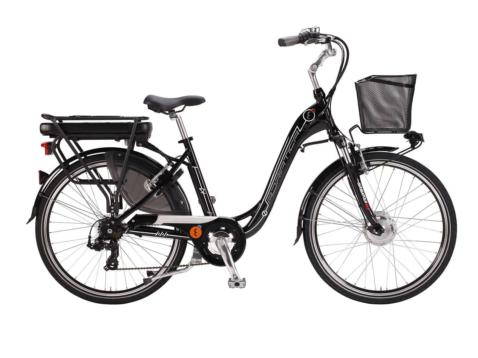 Adriatica E-Bike 26 45cm Naiste must